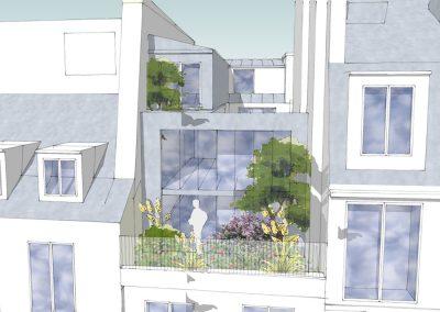 Surélévation d'un immeuble au cœur du Marais