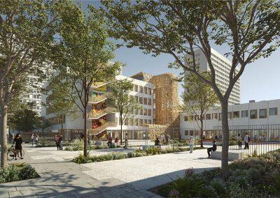 Éco-conception d'une Médiathèque / Maison des réfugiés à faible impact environnemental à Paris 19